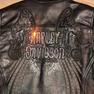 Harley Davidson INDULGENCE Black Leather jacket!💥